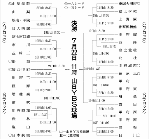 第100回全国高等学校野球選手権記念大会・山梨