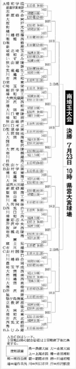 第100回全国高等学校野球選手権記念大会:南埼玉