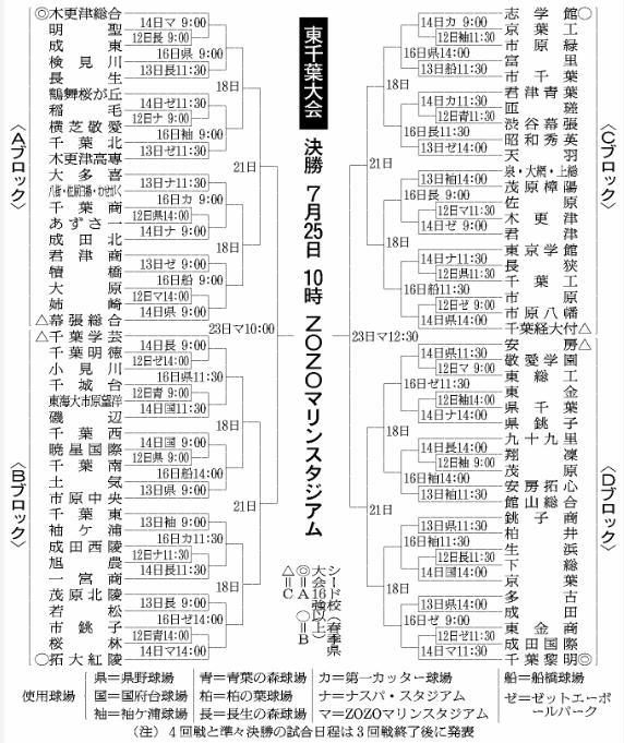 第100回全国高等学校野球選手権記念大会:東千葉