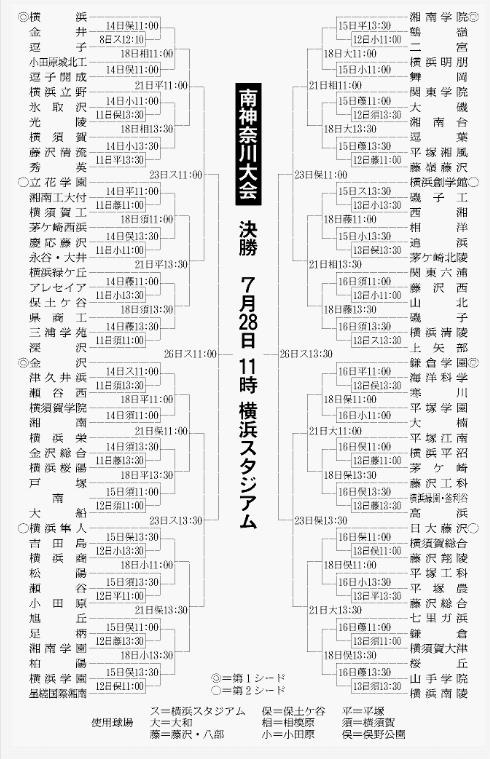 第100回全国高等学校野球選手権記念大会:南神奈川