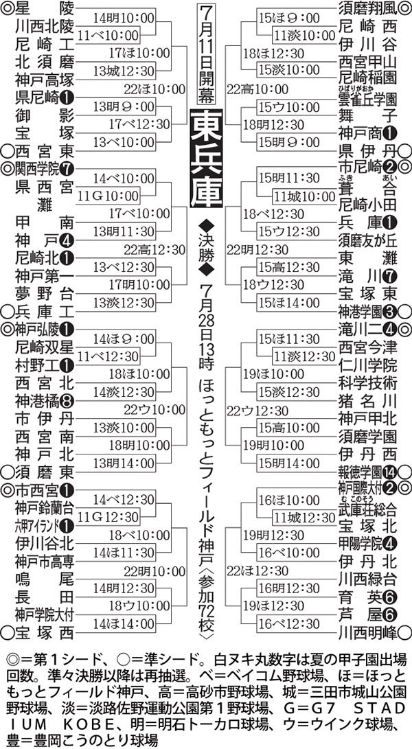 第100回全国高等学校野球選手権記念大会:東兵庫