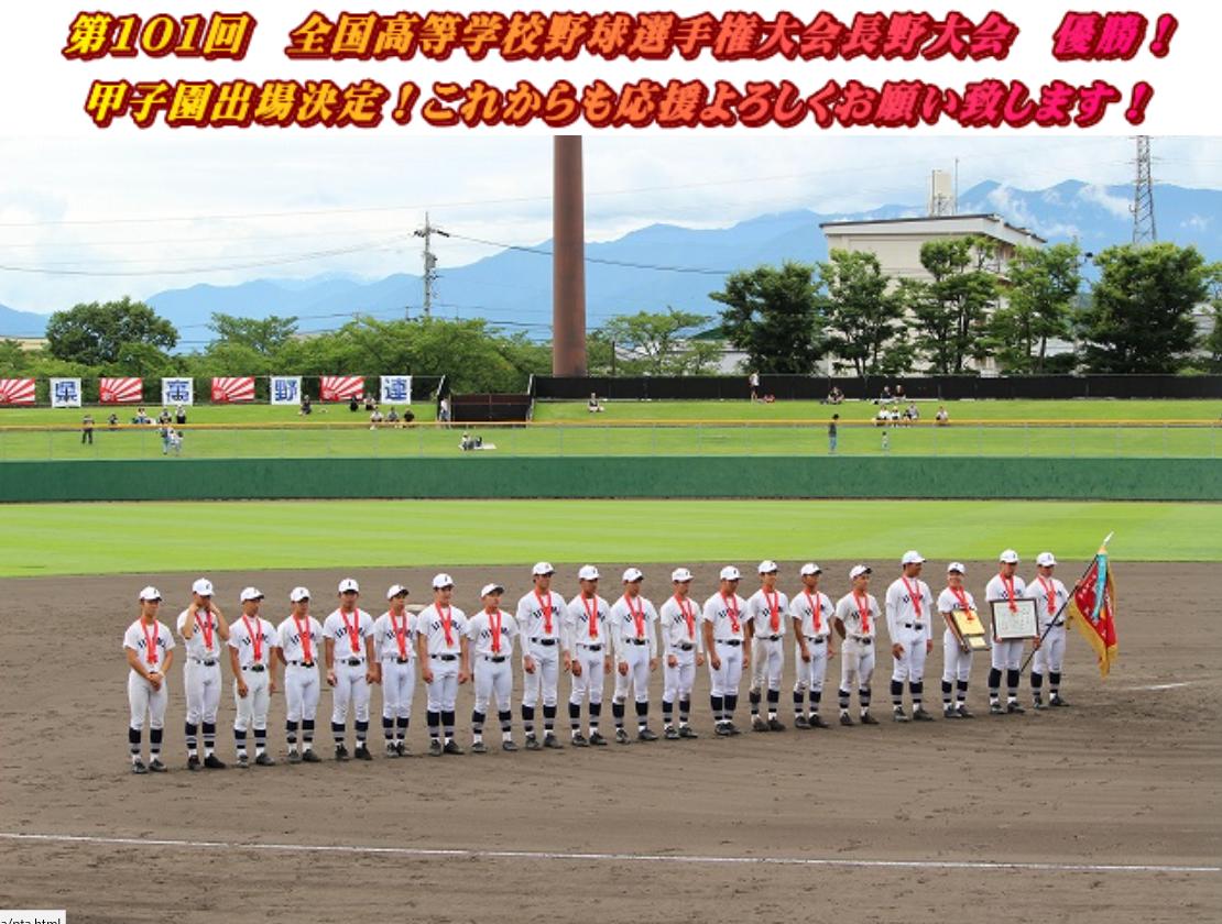 第101回全国高等学校野球選手権記念大会:長野代表【飯山】