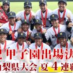 第101回全国高等学校野球選手権大会:山梨代表【山梨学院】