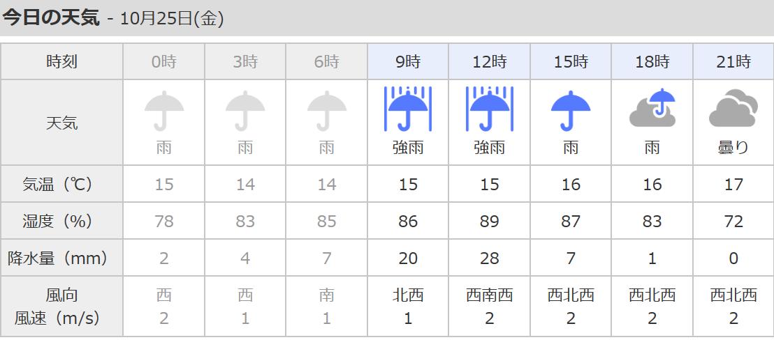台風21号。暖湿気からの大量の雨....