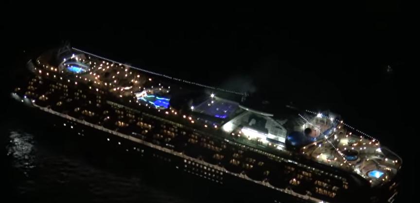「ダイヤモンド・プリンセス」が船内隔離。